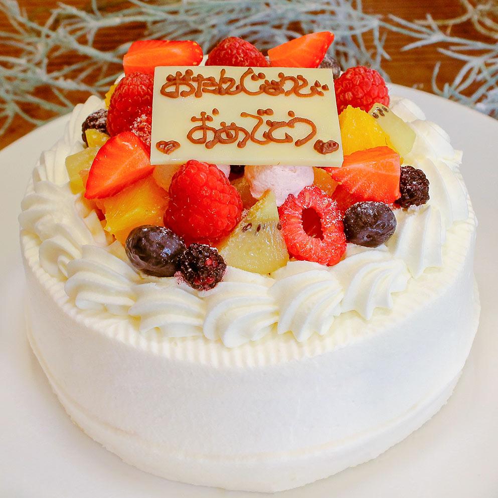 画像1: 低糖質フルーツたっぷりホールケーキ5号(15cm) (1)